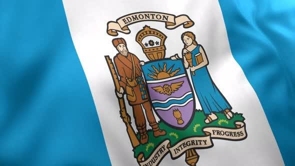 Edmonton City Flag (Canada) - 4K
