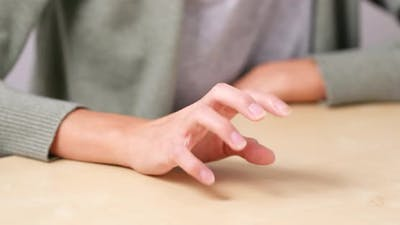 Nervous finger tapping