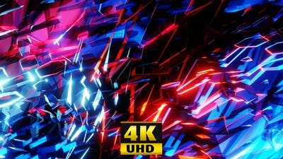 Sparkling Neon Background 4K