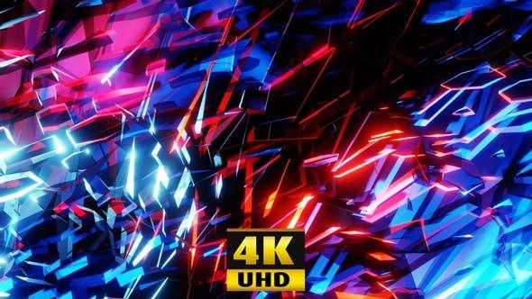 Sparkling Neon Background 4K