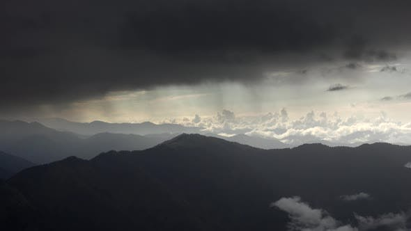 Thumbnail for Black Dark Storm Clouds in Mountainous at Raining Weather