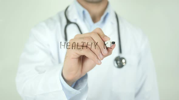 Thumbnail for Healthy Kids, Doctor Writing on Transparent Screen