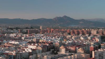 An aeral view of sunny Alicante