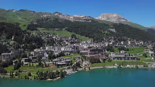 Thumbnail for Aerial View of St. Moritz, Switzerland