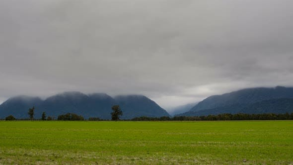 Thumbnail for New Zealand Landscape with Heavy Clouds