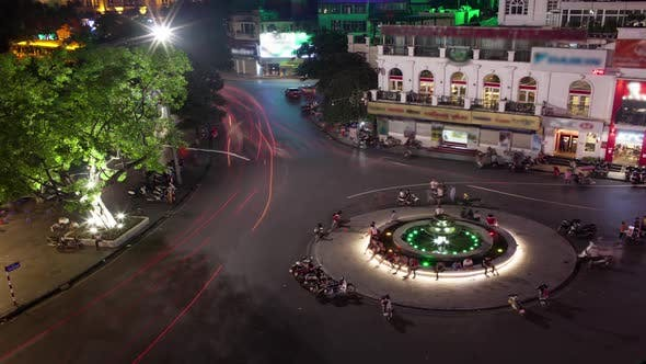 Thumbnail for Time Lapse Shot of Circular Intersection at Night