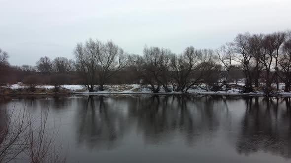 Thumbnail for Winter River Landscape Snow Aero