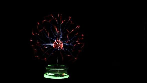 Thumbnail for Tesla Plasma Ball in the Dark.