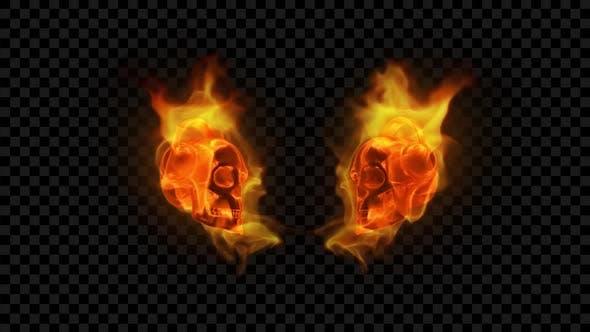Burning Skull - Fire DJ Show 2