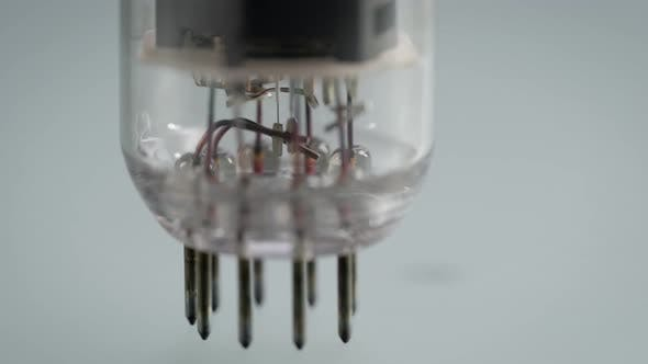 Thumbnail for Radio Tube Close-up. Smooth Rotation of the Radio Component