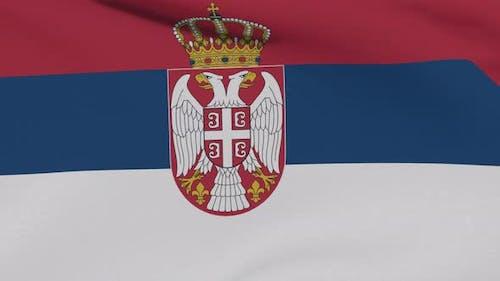 Flag Serbia Patriotism National Freedom Seamless Loop