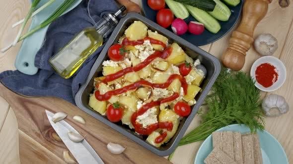 Im Ofen gebackenes Gemüse