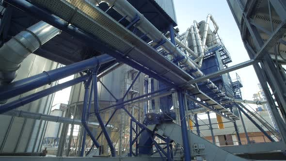 Thumbnail for Grain processing plant pipes