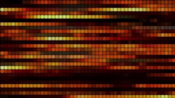 Horizontale Bewegung von leuchtenden Linien.