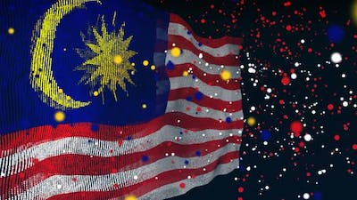 Malaysian Flag Particle Animation
