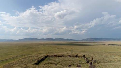 Archäologiekarren in Chakassien