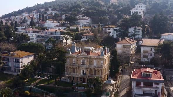 Thumbnail for Istanbul Prince Islands Aerial View Mansion