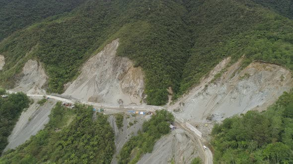 Thumbnail for Construction on a Mountain Road. Philippines, Luzon.