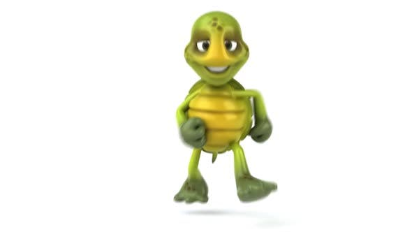 Thumbnail for Fun turtle running