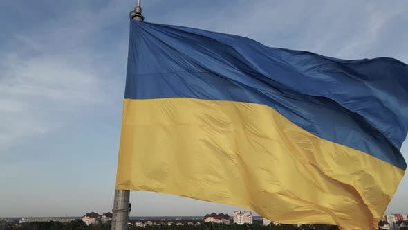 Thumbnail for Flag of Ukraine in the Wind. Kyiv