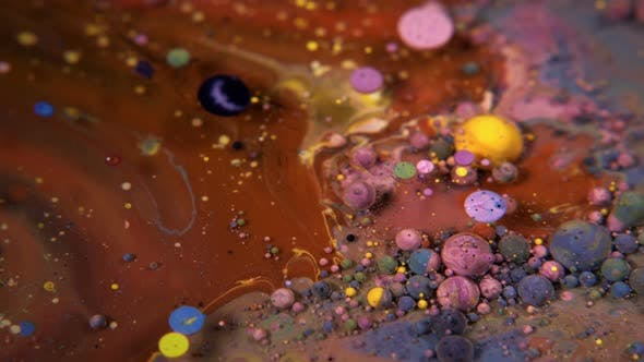 Thumbnail for Abstract Colorful Acrylic And Food Paint Bubbles On Water  08