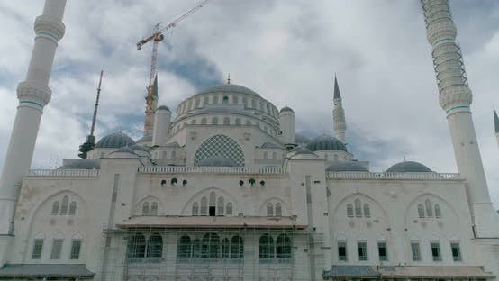 Thumbnail for Istanbul Camlica Mosque Construction And Marmara Sea