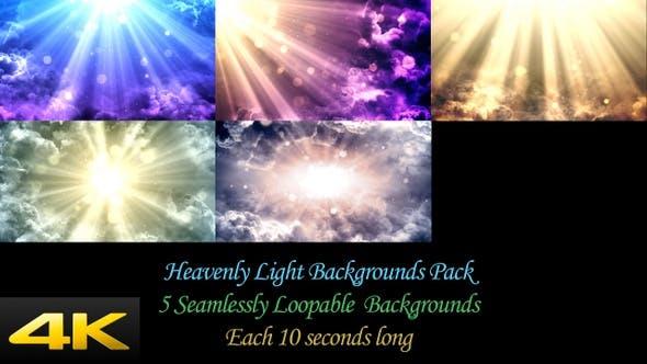 Thumbnail for Heavenly Light Backgrounds Pack