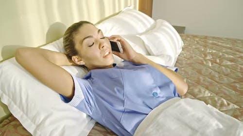 Housemaid Slacking on Shift