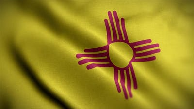 New Mexico State Flag Angle