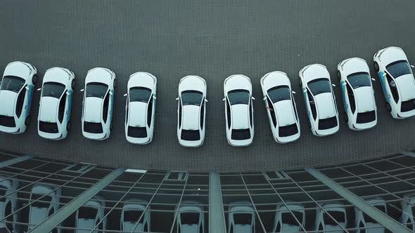 Thumbnail for Aerial View Over Cars in Parking
