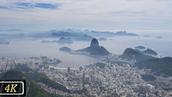 Panorama 2 from Corcovado Mountain, Rio de Janeiro, 2021