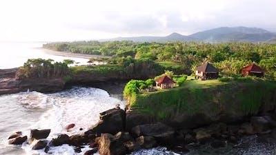 Drone Shot of Coast of Bali