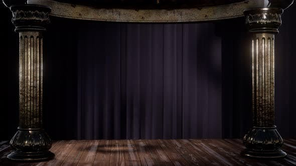 Thumbnail for Stage Curtain with Light and Shadow