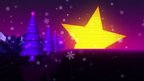 Retro Vhs Christmas Star