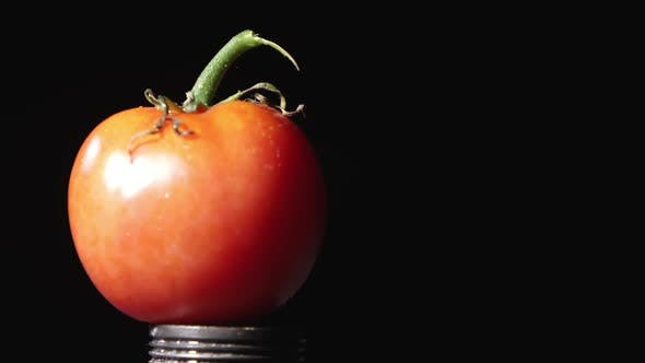 Thumbnail for Slow motion of tomato being shot.