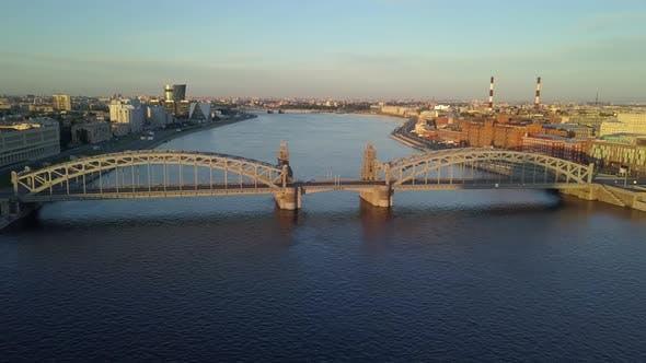Thumbnail for Bolsheokhtinsky Bridge Peter the Great Bridge.