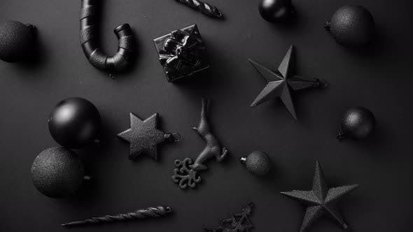 Thumbnail for Christmas Minimalistic and Simple Composition in Mat Black Color