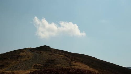 Mountain with Disappear Cloud