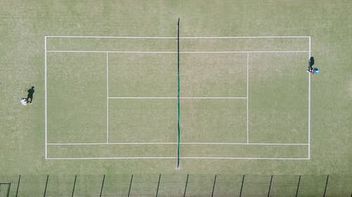 Top view of the tennis court
