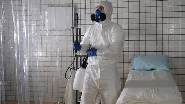 Thumbnail for Coronavirus pandemic - Cleaning and Disinfection. Spraying
