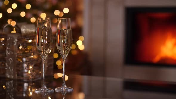 Thumbnail for Champagne and Fireplace