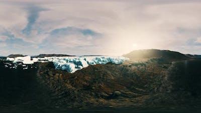 VR360 Icebergs Off Coast of Antarctica