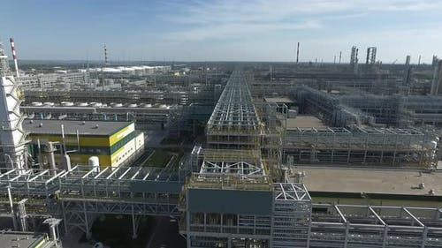 Huge Area of Oil Processing Plant, Aerial