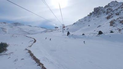 Ski Lift and Skiing