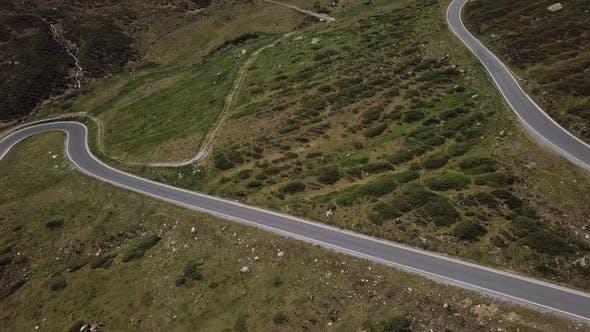 Thumbnail for Aerial View of Silvretta-Bielerhohe Road, Austria.