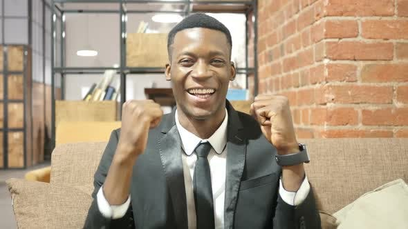 Thumbnail for Successful Black Businessman Celebrating Success
