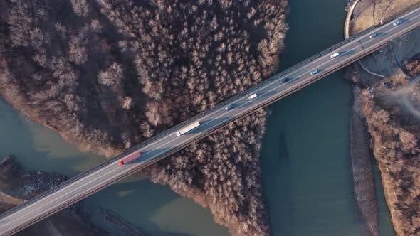 Trucks On The Bridge
