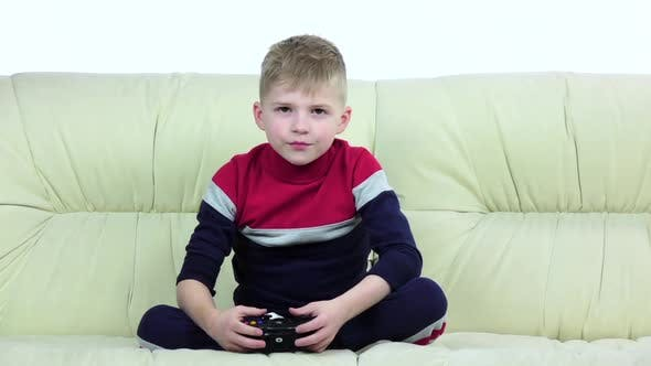 Kid Includes the Console and Starts Playing Online, Slow Motion