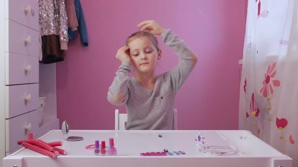 Thumbnail for Little Girl Styling Hair