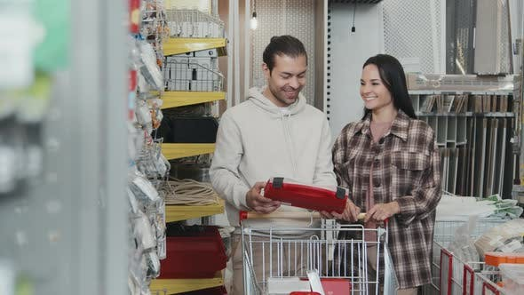 Couple at Hardware Store